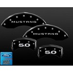 2011-2014 Mustang Black Caliper Covers 5.0 Logo (Set of 4)