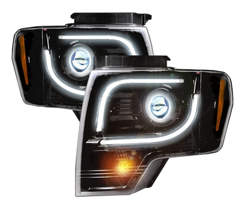 2013 F150 Headlights >> 2013-2014 F150 & Raptor Recon Smoked Projector Headlights ...