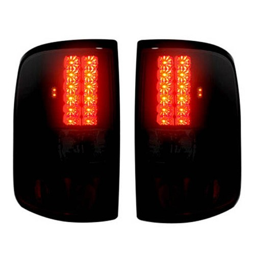 lighting upgrades 2004 2008 f 150 recon smoked red led tail lights. Black Bedroom Furniture Sets. Home Design Ideas