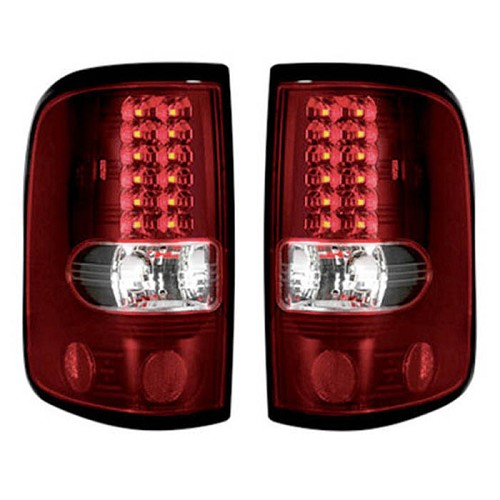 lighting upgrades 2004 2008 f 150 recon red led tail lights. Black Bedroom Furniture Sets. Home Design Ideas
