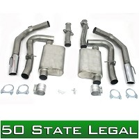 "1999-2004 Mustang Cobra 4V 4.6L JBA 2.5"" - 3"" Cat-Back Exhaust System"