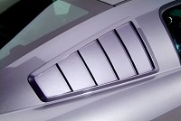 2005-2009 Mustang GT500/GT/V6 Cervini '65 Style Quarter Window Louvers