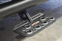 1999-2014 Super Duty F250/F350 N-FAB Black AdjustStep Wheel-To-Wheel Nerf Side Bars (Super Crew, 6.5 ft.  Bed)