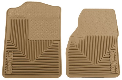 1999-2007 F250 & F350 Crew Cab Husky Liners WeatherBeater Front Floor Liners (Tan)