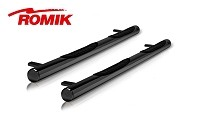 "1999-2014 Super Duty F250/F350 Crew Cab ROMIK 3"" Max Board Round Side Steps (Black)"