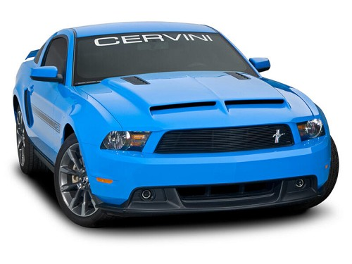 2010 2012 mustang cervini 39 s ram air hood with louvers 1226. Black Bedroom Furniture Sets. Home Design Ideas