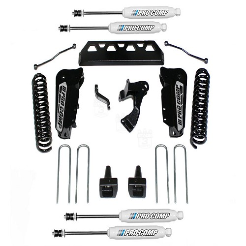 "2017-2018 F250 6.7L Pro Comp 6"" Stage 1 Lift Kit w/ Front and Rear ES9000 Shocks"