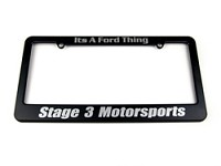 Stage 3 Motorsports License Plate Frame (Black)