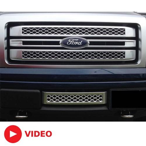 F150 Platinum Platinum: 2013-2014 F150 Boost Bars Platinum Lower Plate Grille 13PLAT