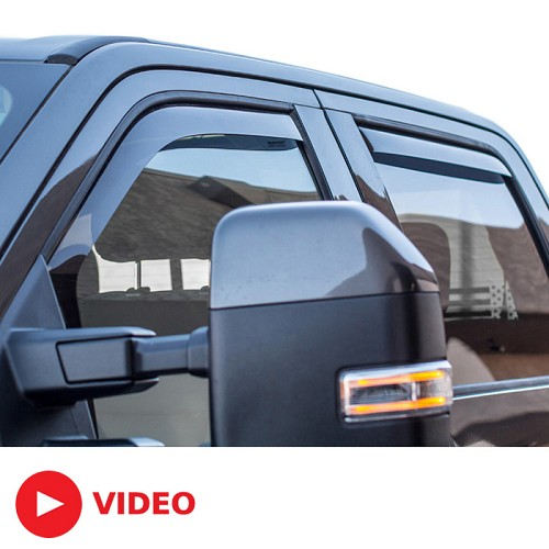 2017 2019 F250 Amp F350 Supercrew Weathertech Front Amp Rear Side Window