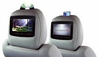 2009-2014 F150 Rosen AV7900 Factory-Look Headrest Entertainment System (Dual Monitor)