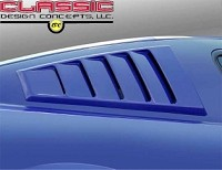 2005-2014 Mustang CDC Louvered C-Pillar Window Scoops (Unpainted)