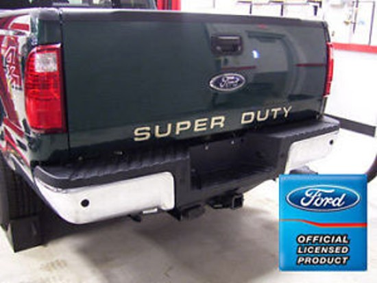 2008 2015 ford f250 f350 superduty officially licensed one color tailgate decals. Black Bedroom Furniture Sets. Home Design Ideas