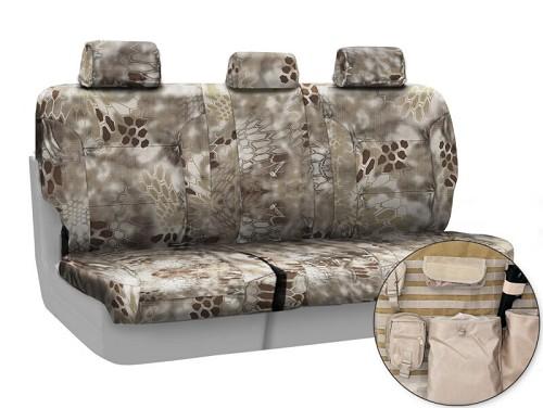 2015 2017 f150 coverking ballistic kryptek highlander camo rear seat covers ctsckt01. Black Bedroom Furniture Sets. Home Design Ideas