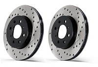 2013-2014 Focus ST StopTech Sport Cross-Drilled Rear Rotors