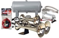 Kleinn Automotive Triple Chrome ABS Train Horn Kit - HK6