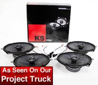 2004-2014 F150 Kicker KS68 6x8 Door Speaker Upgrade Kit - CrewCab & SuperCab