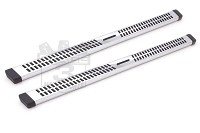 1999-2014 Super Duty F250/F350 Extended Cab Lund Wheel-to-Wheel Running Boards (Chrome)
