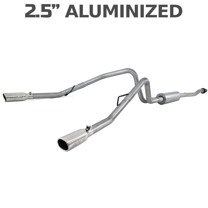 2011-2014 Ford F150 MBRP EcoBoost 3.5L V6 Dual Rear Side Exit Cat-Back Exhaust (Aluminized)