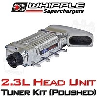 2011-2014 Mustang GT Whipple W140AX 2.3L Supercharger Tuner Kit (Polished)