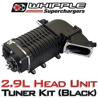 2011-2014 Mustang GT 5.0L Whipple W175AX 2.9L Supercharger Tuner Kit (Black)