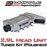 2011-2014 Mustang GT Whipple W175AX 2.9L Supercharger Tuner Kit (Polished)