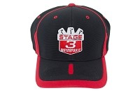 Stage 3 Motorsports Curve-Billed Red & Black Hat