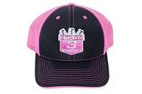 Stage 3 Motorsports Curved-Billed Black & Hot Pink Mesh Hat
