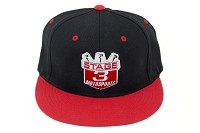 Stage 3 Motorsports Flat-Billed Red & Black Hat