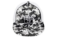 Stage 3 Motorsports Flat-Billed Digital Snow Mesh Camo Hat