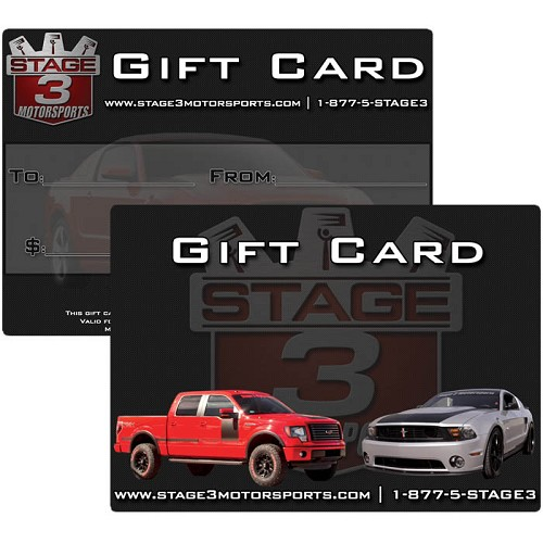 $100 Stage 3 Motorsports Gift Card - Free T-Shirt