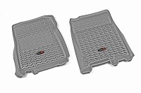2011-2014 F150 Rugged Ridge Front Floor Liners 2-Piece (Gray)