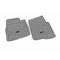 2009-2010 F150 Rugged Ridge 2-piece Front Floor Liners (Gray)