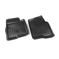 2009-2010 F150 Rugged Ridge 2-piece Front Floor Liners (Black)