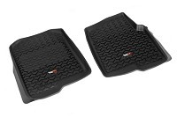 2011-2014 F150 Rugged Ridge Front Floor Liners 2-Piece (Black)