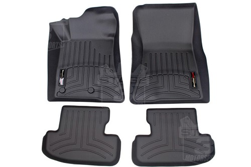 2015-2017 Mustang WeatherTech Front & Rear DigitalFit Floor Mats (Black)