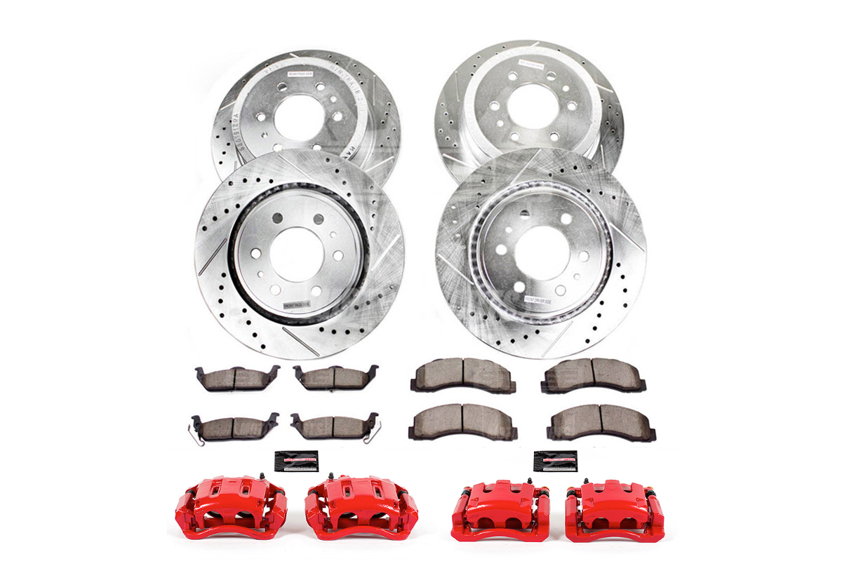 2005-2007 F350 RWD Dually Power Stop Z36 Truck & Tow Front & Rear Brake Kit