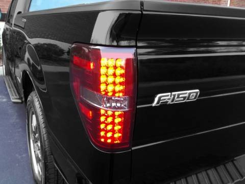 2009 2014 F150 Amp Raptor Spyder Led Tail Lights Red Smoked