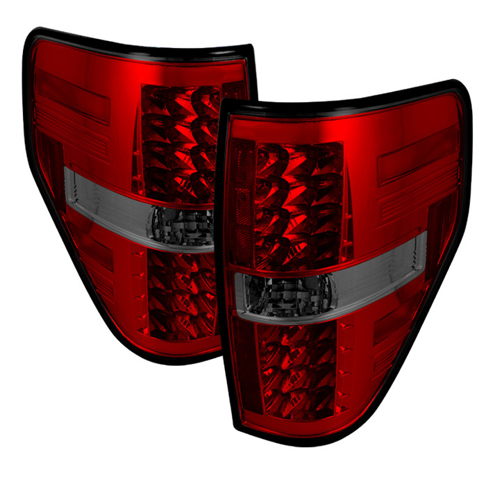 2009-2014 F150 & Raptor Spyder G2 LED Tail Lights (Red Smoked)
