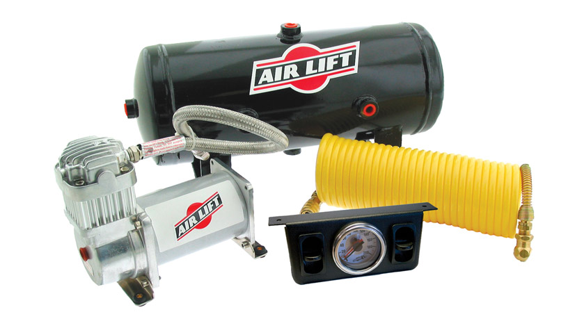 Air Lift Double QuickSHOT On-Board Air Compressor Kit (Dual Path)