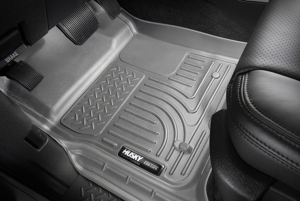 super duty husky weatherbeater front floor mats grey
