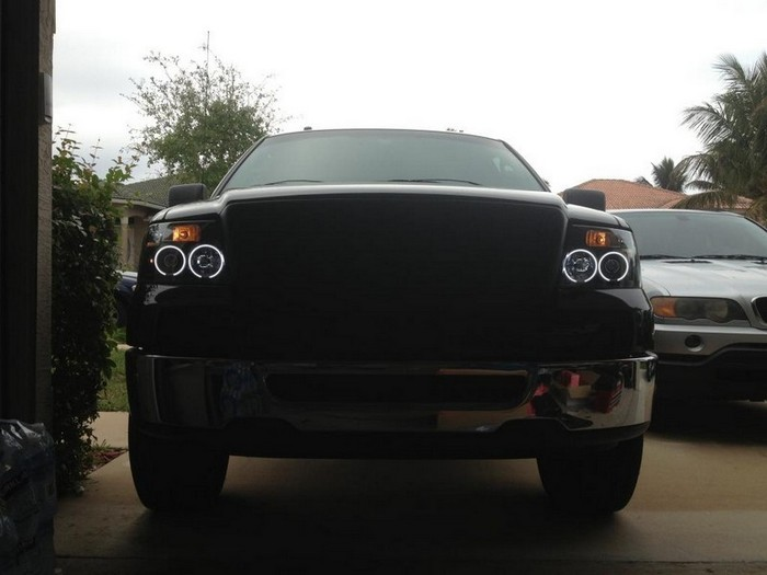 2004 2008 F150 Spyder Projector Headlights W Ccfl Halos Black