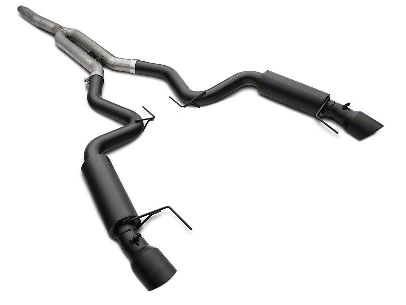 2015 2020 mustang 2 3l ecoboost mbrp 3 race series cat back exhaust kit black s7275blk