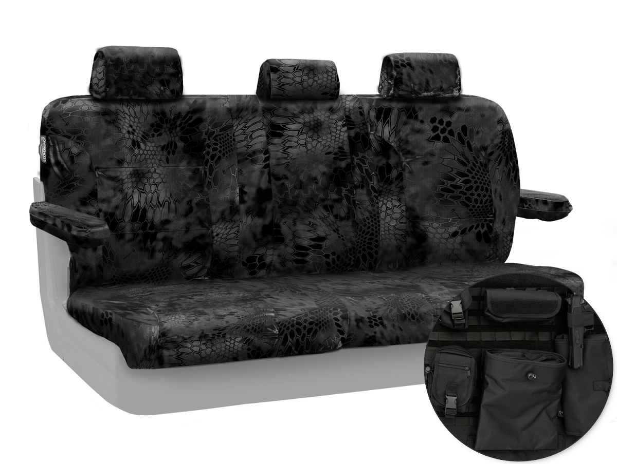2015 2017 F150 CoverKing Ballistic Kryptek Typhon Camo Rear Seat Covers CTSCKT06
