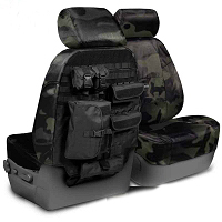 2009-2010 F150 CoverKing Ballistic Cordura Multi-Cam Front Seat Covers (Black)
