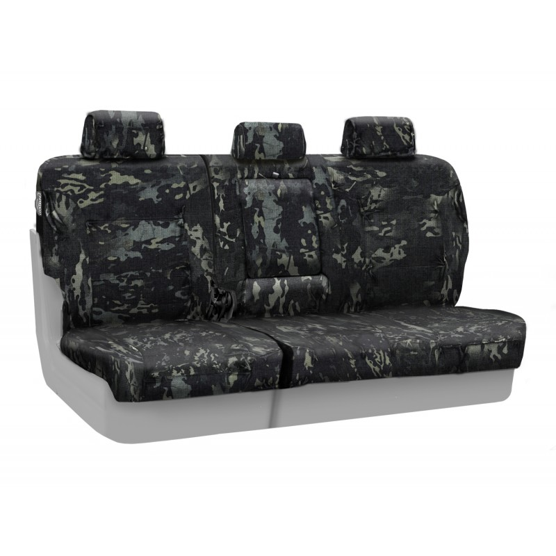 2009-2010 F150 CoverKing Ballistic Cordura Multi-Cam Rear Seat Covers (Black)