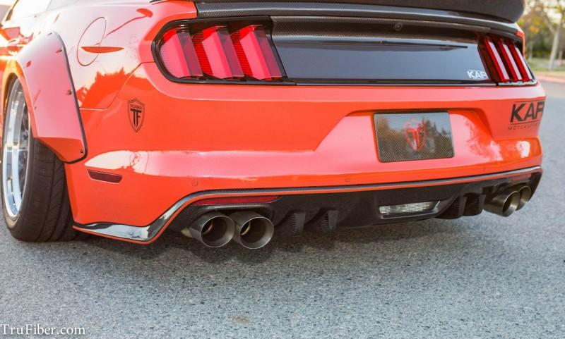 Mustang Shelby Cobra >> 2015-2017 V6/GT Mustang TruFiber Carbon Fiber LG269 Rear Diffuser (Quad Tip) TC10026-LG269