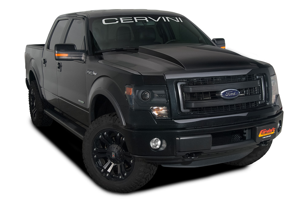 just added 2009 2014 f150 cervini 39 s 3 inch cowl hood. Black Bedroom Furniture Sets. Home Design Ideas