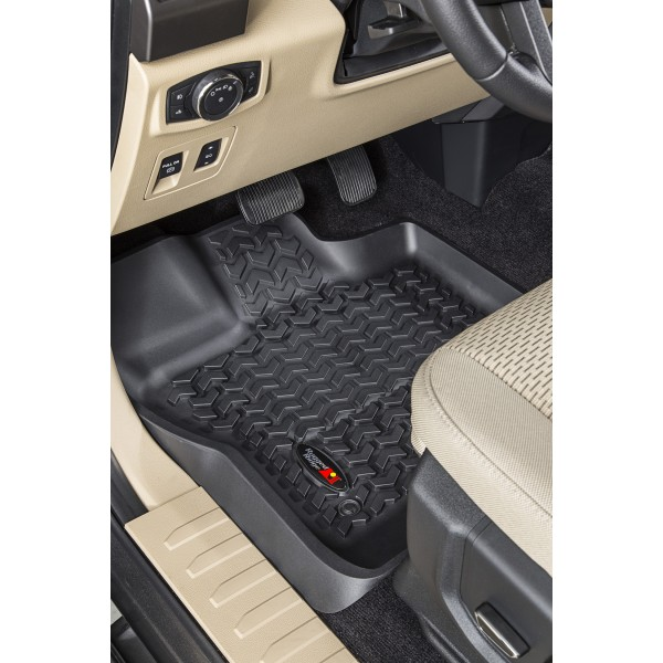 liner ridge thermoplastic rugged floor rug terrain mats all black
