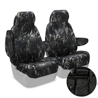 2013-2014 F150 CoverKing Ballistic Multi-Cam Front Seat Covers (Black)